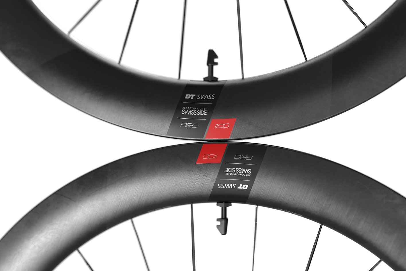 DT SWISS ARC 1100 RIM DECAL SETS for two wheels rim depth 50mm RED VARRIATION